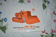 Allis Chalmers HD-16G Crawler Tractor Loader Dealers Brochure YABE11 Ver37