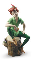 Disney Lladro Porcelain Peter Pan Figurine Ornament 25cm 01009328 Boxed New