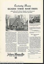 1929 Johns-Manville advertisement, ASBESTOS Roof shingles
