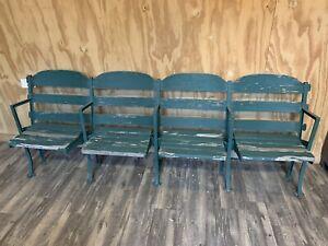 Rare 1912 Authentic 4 Stadium Seats from Navin Field, Briggs, Tiger Stadium