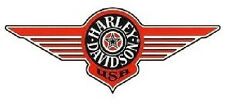 Autocollant Harley Davidson Fenêtre 26x10 cm Window Décalque Sticker Fat Boy Logo XXL
