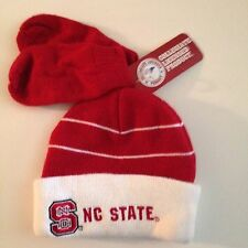 NC State Wolfpack Hat Mitten Set Toddler Red White