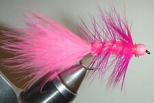 Woolly Bugger Hot Pink Bead Head Size 6 (per 3)