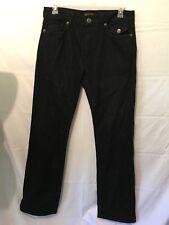 Blac Label Mens Black Denim Jeans Straight Leg 32 Actual Measure 36x34