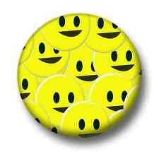 Smileys 1 Inch / 25mm Pin Button Badge Cute Yellow Happy Emoticons Kitsch Funny
