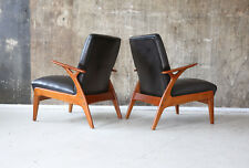 1(2) 60er LEDERSESSEL MID-CENTURY SESSEL 60s LEATHER EASY CHAIR VINTAGE