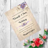 Personalised Handmade Wedding Invitations Invites Day Evening Vintage x 50 AW22