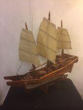 """Model Ship 18""""x19"""" Vintage Hooker Boat&stand. See12pics4size&details. MAKE OFFER"""