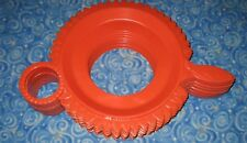 Lot 10 Tangerine Sunflowers Vintage Serva-Plate Plastic Plate and Cup Holders