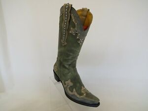 Matisse Gray Leather Cowboy Western Boots Womens Size 7 B