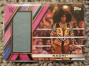 2020 Topps WWE Womens Division Naomi Royal Rumble Mat Relic Card /150 MR-NM
