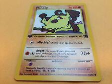 Pokemon Mankey 61/82 Team Rocket 1st Edition Common Card Mint
