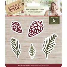 SALE New Sara Davies Metal Cutting Die A Winter's Tale - Pine Cones and Leaves