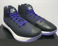 Under Armour Mens Size 12 Curry 3Zero Black Purple Athletic Basketball Shoes New