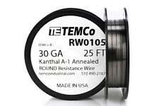 TEMCo Kanthal A1 wire 30 Gauge 25 Ft Resistance AWG A-1 ga