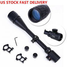 New US Optics Rifle Scope 6-24x50 AOE Red Green Illuminated Gun scopes Mounts