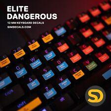 Elite Dangerous Steam Game Keyboard Shortcut Stickers