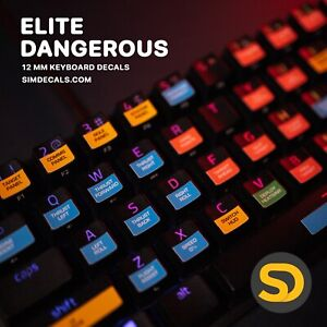 Elite Dangerous Steam Game Keyboard Shortcut Stickers