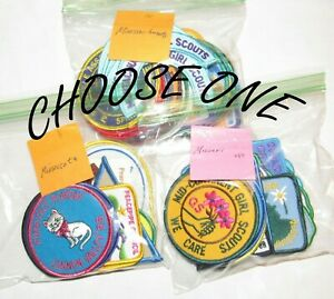 42 Different Girl Scout COUNCIL PATCHES By State: MA, MN, MO, CHOOSE ONE Badge