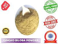 Ginkgo Biloba Powder Ginko 100% Natual Organic Memory Improve Best Quality Herb