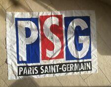 Drapeau Football Psg Paris Saint Germain années 95 avec signatures joueurs(Weah