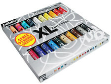 Pebeo Studio XL Oil Paint Set 20 x 20ml Colour Tubes incl. Dyna & 1 Free Brush