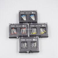 4Size Dental Endo Quartz Straight Fiber Post Drill Thread Glass Files All 10 PCS