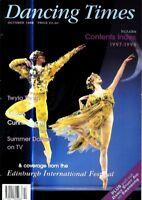 DANCING TIMES MAGAZINE 1998 OCT JOSEFINA GABRIELLE MARK BALDWIN