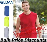Gildan Mens Blank Ultra Cotton Sleeveless T Shirt 2700 up to 2XL