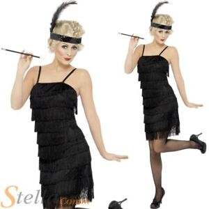 Ladies Charleston Fringe Flapper Costume Fancy Dress 20s 30s Gatsby Outfit