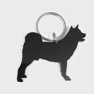 Akita Dog Keyring Bag Charm Keychain Gift In Black