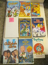 10 VHS Videos Bugs Bunny Truth or Hare Peter Pan Doug's 1st Movie Pinocchio