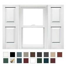 Mid America Raised Panel Vinyl Shutters 14.75in. (1 Pair)