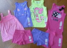 NEW size 5 Young Girl Mix & Match Summer Outfit LOT Tops Shorts NWT $112 retail