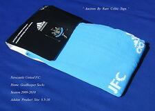 New Adidas Newcastle United FC 2009-10 Goalkeeper Home Socks 8.5-10 Euro 43-45