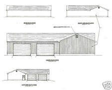 60' x 56' Six Plus Stall ' L' Shape Garage Building Plans