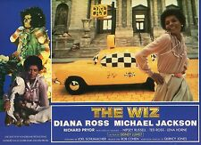 DIANA ROSS MICHAEL JACKSON THE WIZ 1970 VINTAGE PHOTO FRENCH LOBBY CARD N°7 MINT