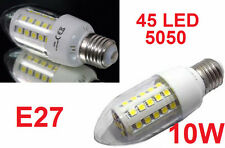 Lampada LED E27,luce bianca,10W,bianco freddo,5050,lampadina oliva candela