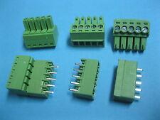 10 pcs Pitch 3.5mm 5way/pin Screw Terminal Block Connector Green Pluggable Type