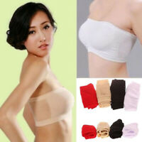 Surefit Seamless Padded Comfort Strapless Stretch Bandeau Summer Bra Free Size