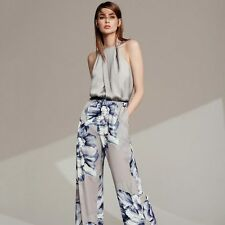 New COAST Percie Floral Silver Summer Evening Party Jumpsuit Size 14 BNWT £119