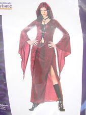 Teen Junior 3-5 Halloween Costume Maiden of Darkness 2 piece burgundy hooded