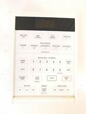 GE White Control Panel Assembly WB07X2007 WB27X0938 From JVM250WL003 Microwave