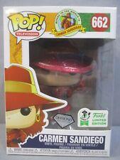 Funko 662 Carmen Sandiego Emerald City Comicon Exclusive Pop Diamond Collection