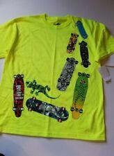 Boys Gecko Brand Lime Multicolor Skateboard T-Shirt Size Xl
