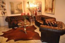 Chesterfield Classik 3+2+1 Aniline Vintage  Luxus Leder Garnitur UVP 8850€