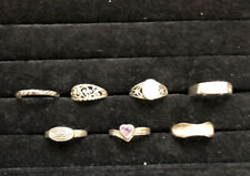 925 Sterling Silver Lot of 7 Assorted Rings