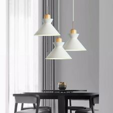 White Pendant Light Kitchen Chandelier Lighting Bar Lamp Home Wood Ceiling Light