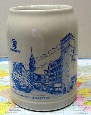 Bierkrug, Steingut 0,50 Liter Maß,  Löwenbräu, Löwenturm und alter Peter