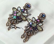 1 Pair Elegant Multi Crystal Rhinestone  Ear Drop Dangle Stud long Earrings 182
